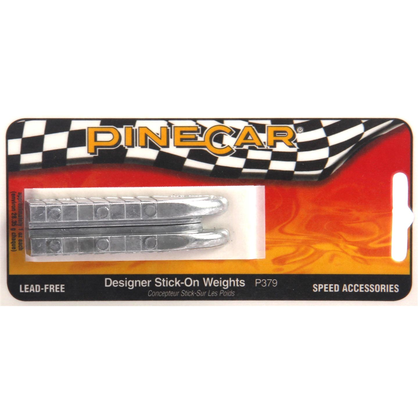 PineCar Derby Car Weights: Designer Stick-On, 2 oz