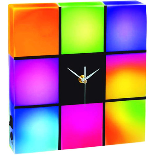 Creative Motion LED Color-Changing Panel Clock