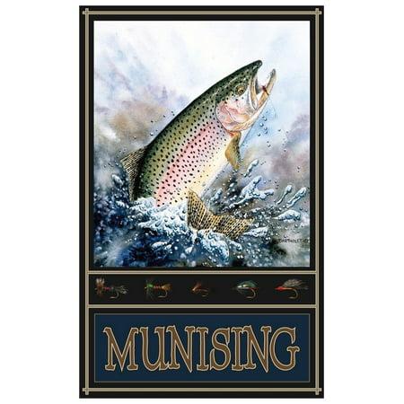 Munising Minnesota Rainbow Trout Giclee Art Print Poster by Dave Bartholet (12