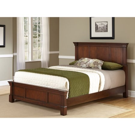 Home Styles The Aspen Collection King Bed  Rustic Cherry Black