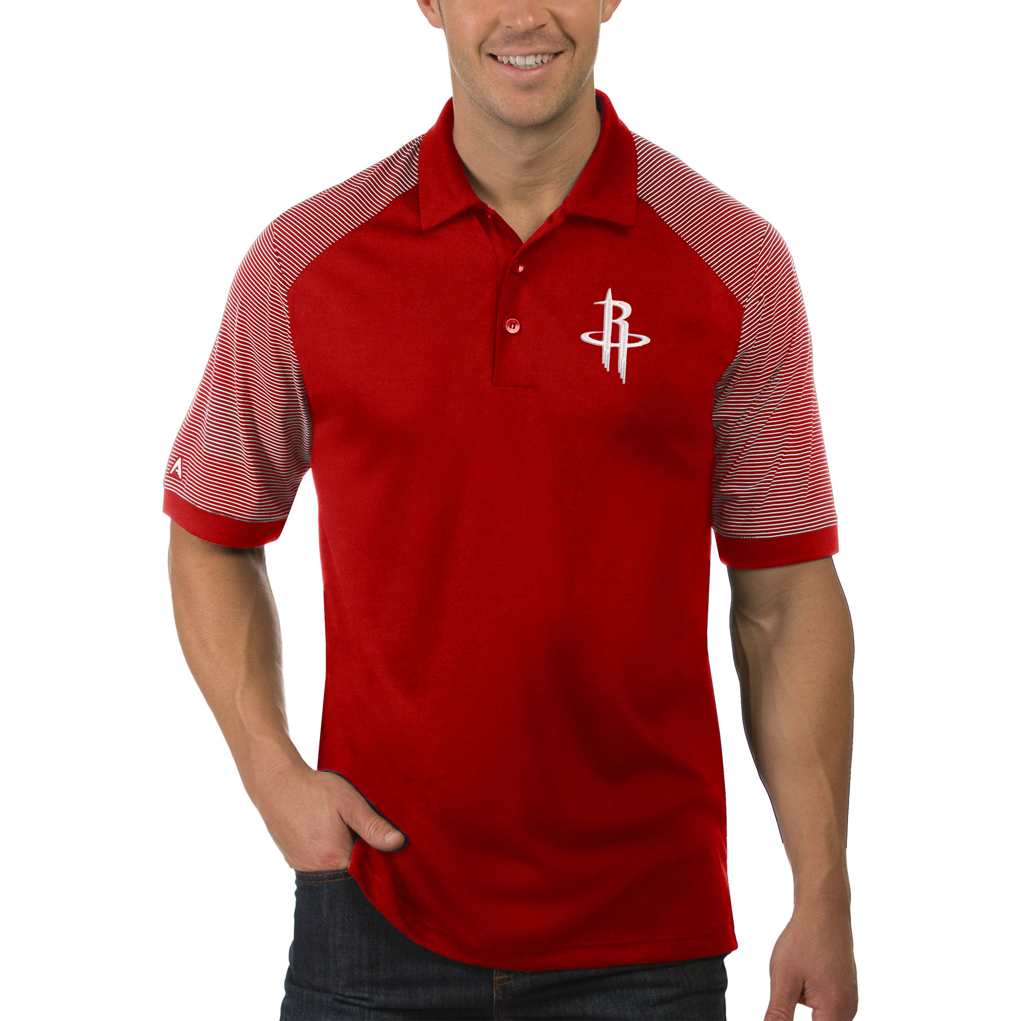 Houston Rockets Antigua Engage Big & Tall Polo - Red