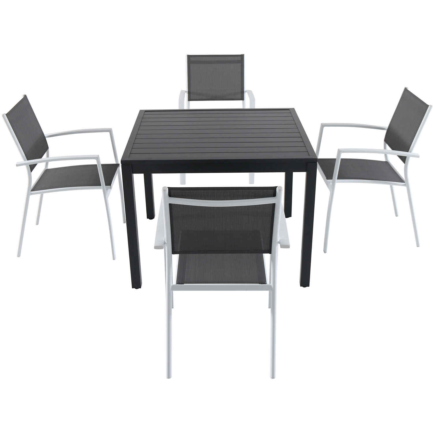 Attrayant Cambridge Nova 5 Piece Outdoor Dining Set With 4 Sling Arm Chairs And A 38