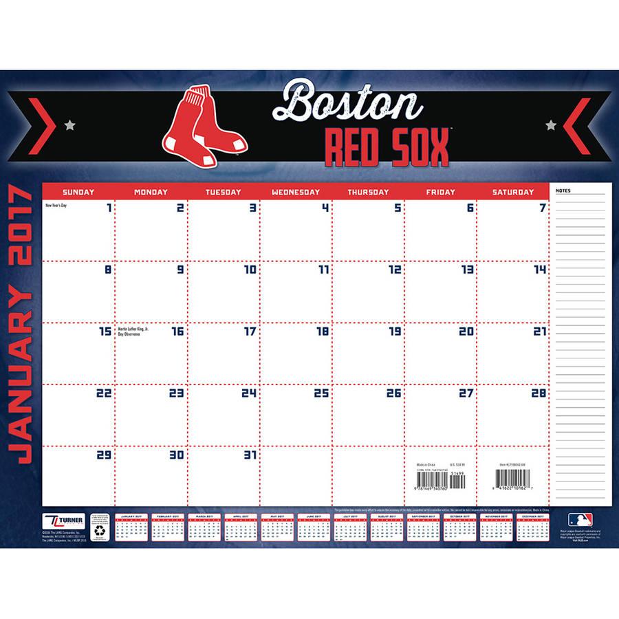 Turner Sports 2017 22 Quot X 17 Quot Desk Calendar Boston Red Sox