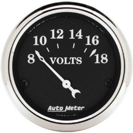 AutoMeter 1791 Old Tyme Black (TM) Gauge Voltmeter - image 1 de 2