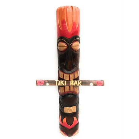 God Of Fire Tiki Totem Pole 40