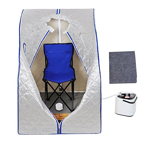 MegaBrand 2L Portable Steam Sauna Tent SPA Detox Weight Loss w  Chair Silver by MegaBrand