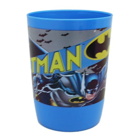Batman With Bat Symbol Blue Plastic Kids Cup - Batman Cup