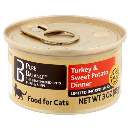 Balance Dinner - (12 pack)Pure Balance Turkey & Sweet Potato Dinner Food for Cats, 3 oz