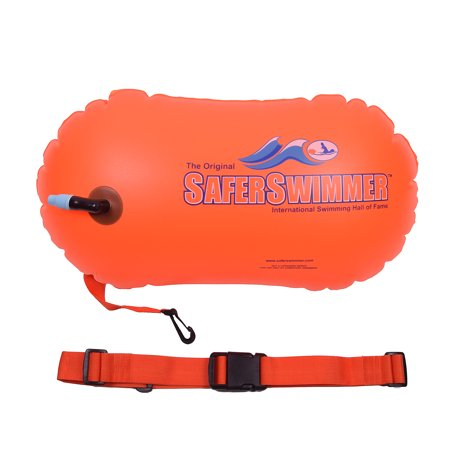ISHOF SaferSwimmer PVC Safety Swimming Bouy Air Bag Only With Handle Orange
