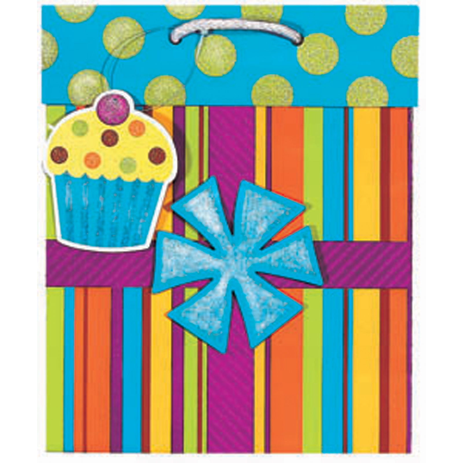 Birthday Present Gift Bag, Medium - 1 Pkg