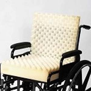 One Piece Convoluted Wheelchair Cushion With Back ( No Cover)