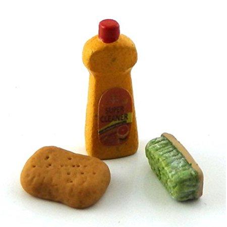 Dollhouse Miniature Set of 3 Cleaning Supplies - image 2 de 3