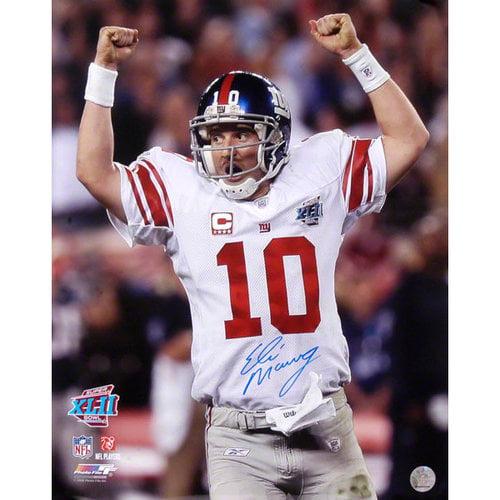 NFL - Eli Manning New York Giants - Super Bowl XLII Champions - Autographed 16x20 Photograph