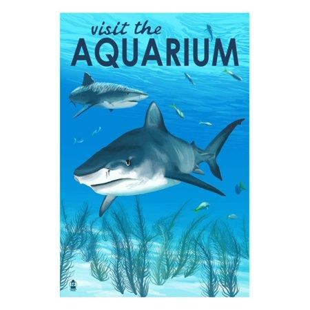 Tiger Shark - Visit the Aquarium Print Wall Art By Lantern Press ()