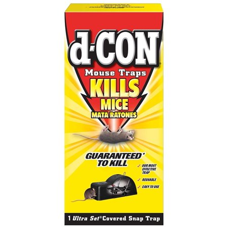 - d-CON Reusable Ultra Set Covered Mouse Snap Trap, 6 Traps (6 Packs x 1 Trap)