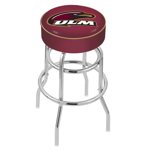 NCAA Swivel Stool with Double Ring Base by Holland Bar Stool, 30'' - ULM Warhawks