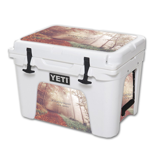 MightySkins Protective Vinyl Skin Decal for YETI Tundra 35 qt Cooler wrap cover sticker skins Happens For A Reason