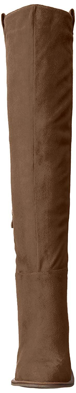 6e871410a37 Very Volatile Womens nate Fabric Almond Toe Over Knee Fashion Boots -  Walmart.com