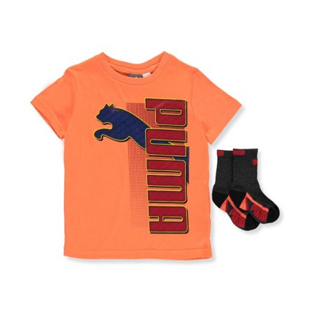 25e17d7f691a Puma Big Boys' T-Shirt & Socks Set (Sizes 8 - 20)
