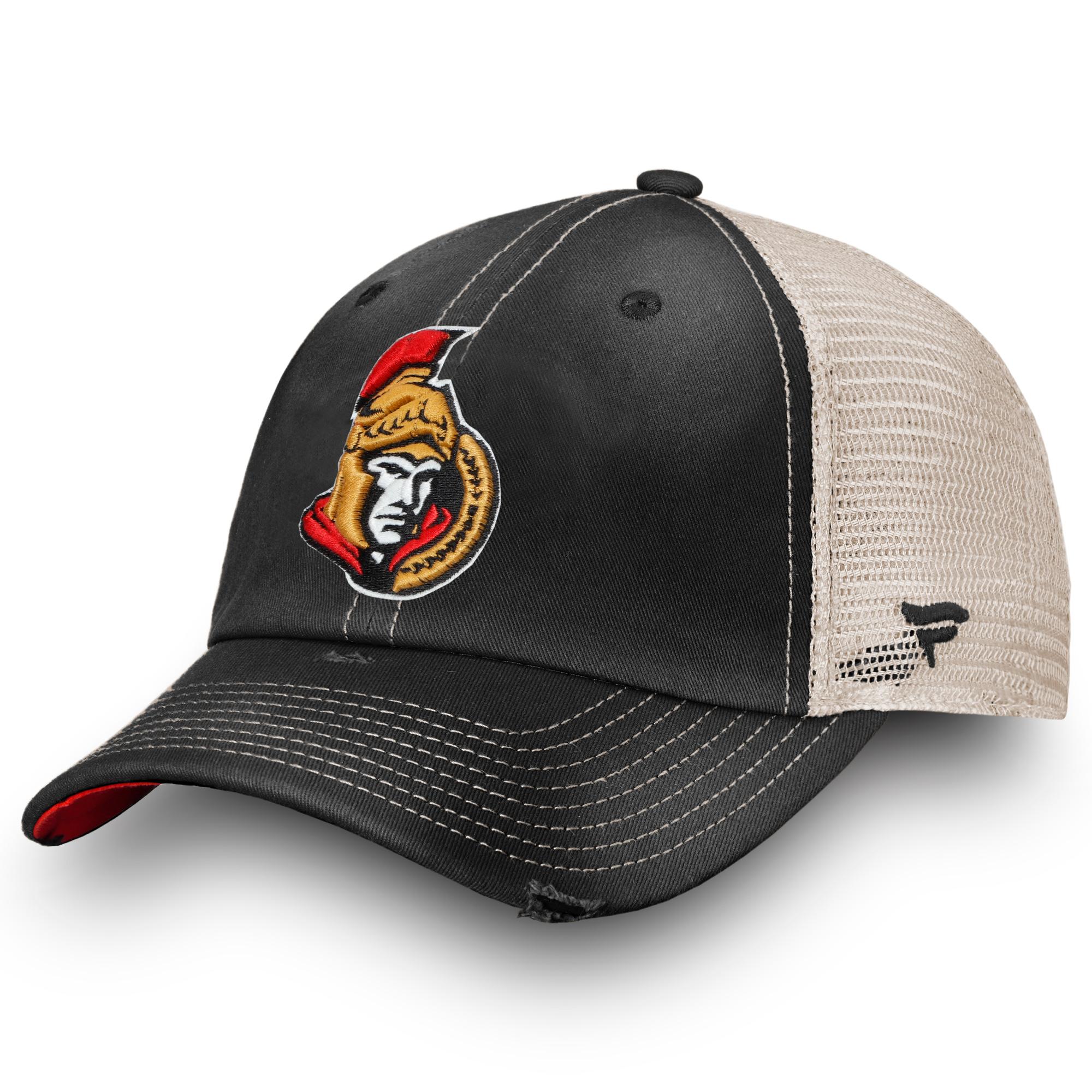 Ottawa Senators Fanatics Branded True Classic Washed Trucker Snapback Hat - Black - OSFA