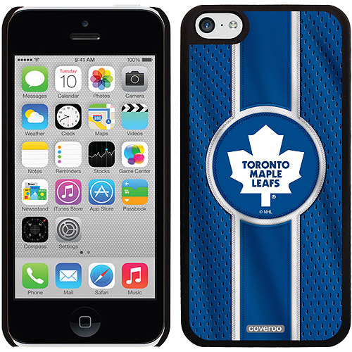 Toronto Maple Leafs Jersey Stripe Design on iPhone 5c Thinshield Snap-On Case by Coveroo