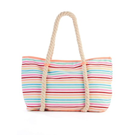 No Boundaries Multi Stripe Rope Tote