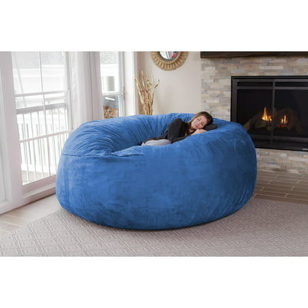 Chill Sack Huge 8 ft Bean Bag, Multiple - 8 Plush Bean Bag