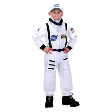 Space Suit Costumes (Jr. ASTRONAUT NASA white jumpsuit space suit toddler boys halloween costume)