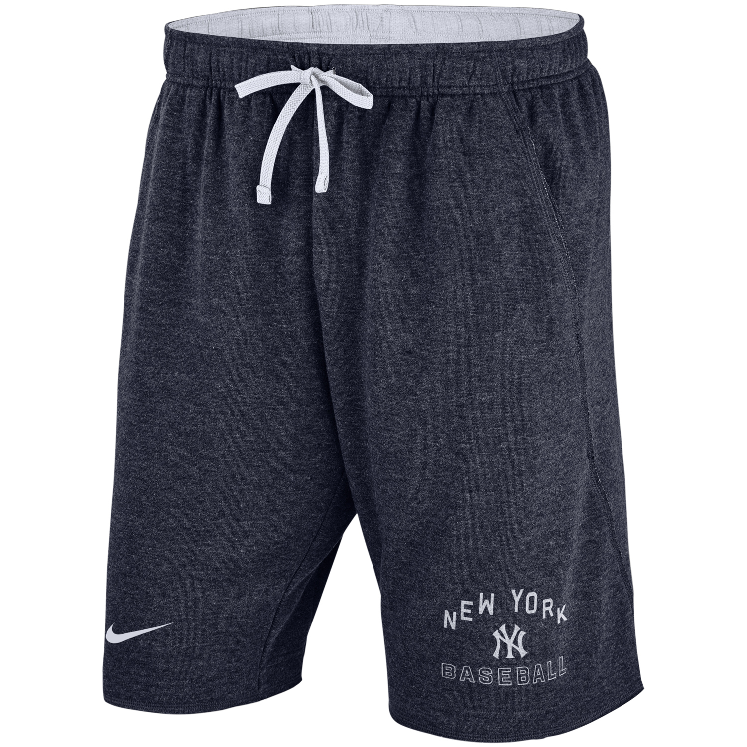 New York Yankees Nike Flux Lounge Shorts - Heathered Navy