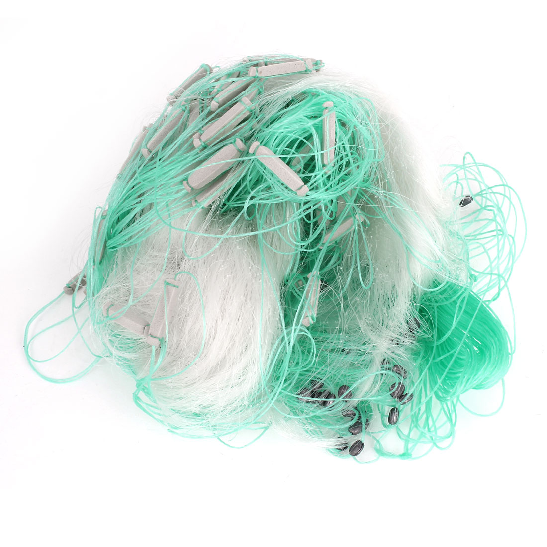 80ft x 5ft Fishing Gill Net Fish Angler Mesh Hole for Fishermen White Green