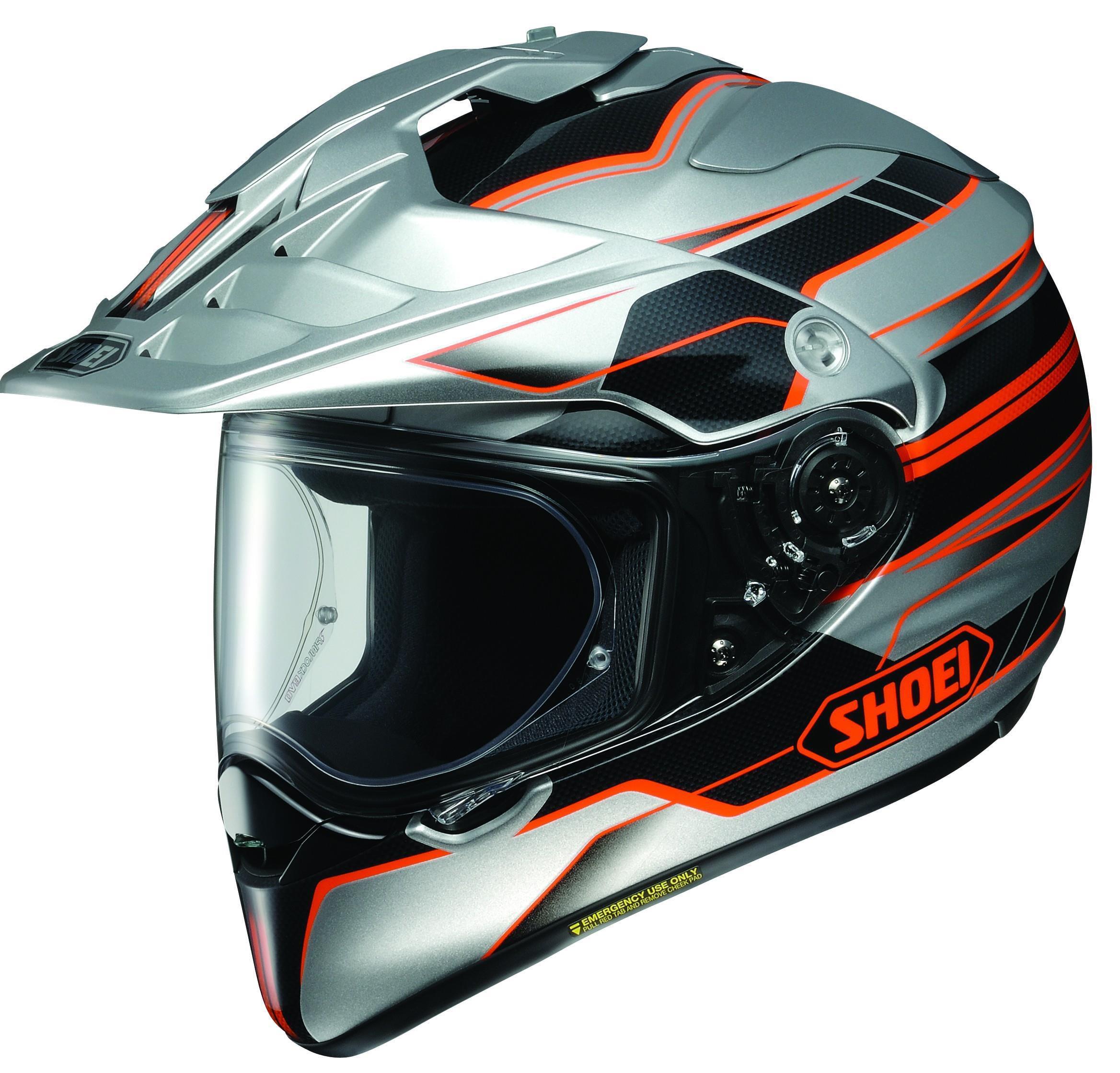 Shoei Hornet X2 Navigate Helmet Orange (TC-8) (Silver, Medium)