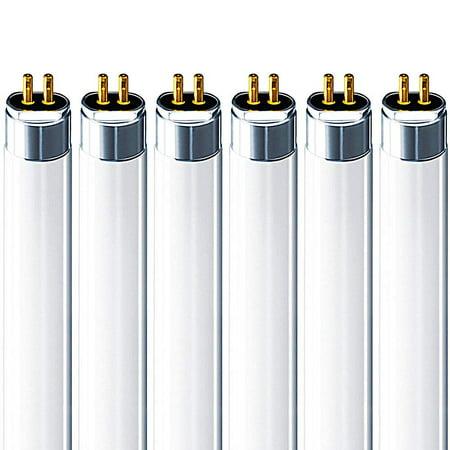 Luxrite F14T5/830 14W 22 Inch T5 Fluorescent Tube Light Bulb, 3000K Soft White, 60W Equivalent, 1140 Lumens, G5 Mini Bi-Pin Base, LR20856, 6-Pack 14w T5 Direct Wire