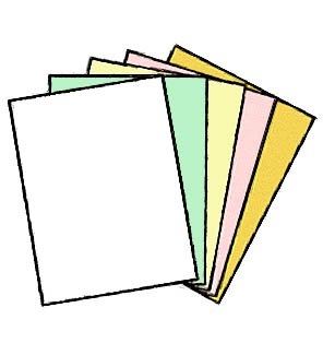 100 Sets of 5 Part NCR Carbonless Paper 8.5 x 11 Straight Collated 500 Ream (01938) by NCR® - Appleton Paper