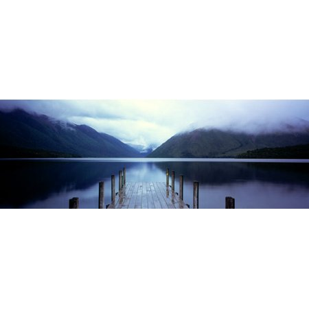 Serene Dock II Beautiful Tasteful Classy Classic Nature Mountain Quality Photo Home Decoration 20X8 (Classic Decorations)