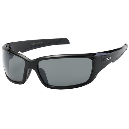 New Mens Sports Wrap Around Sunglasses Cycling Driving Black Eyewear