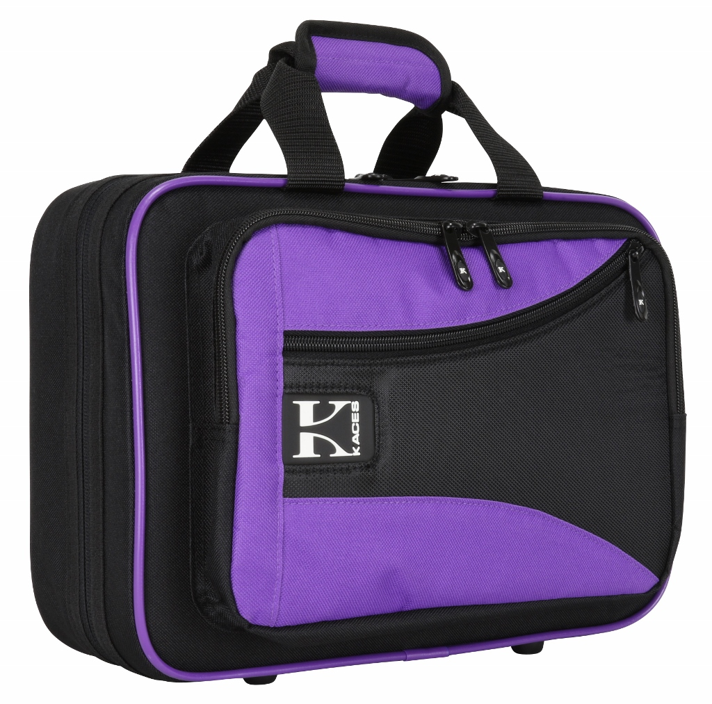Kaces KBO-CLPP Lightweight Hardshell Clarinet Case, Purple by Kaces