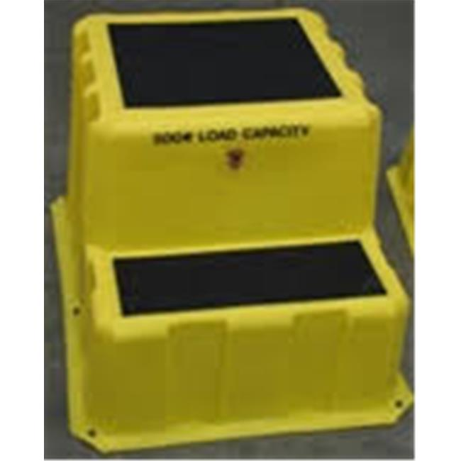 Vestil VNST-2 Yellow Nestable Step Stool, 33 x 26 x 20 in.