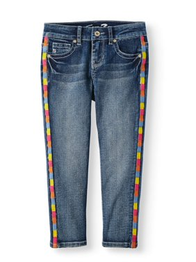 Seven7 Rainbow Side Stripe Skinny Jean (Big Girls)