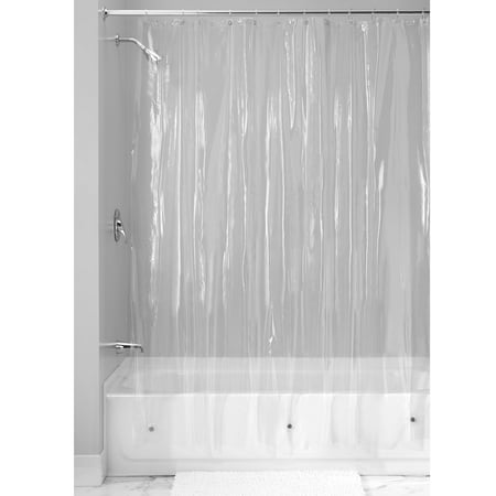 Clear Aqua Shower Enclosure (InterDesign Vinyl Shower Curtain Liner, Standard 72
