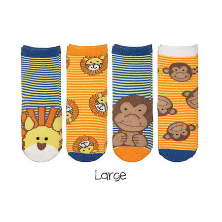 Sock Monkey Clothes (FlapJackKids Sock Safari Lion and Monkey Toddler Socks 8 Socks Lg 1-3)