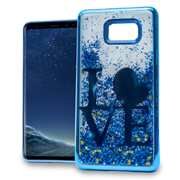 Blue Love Motion Glitter Chrome Case For Samsung Galaxy S8 Phone