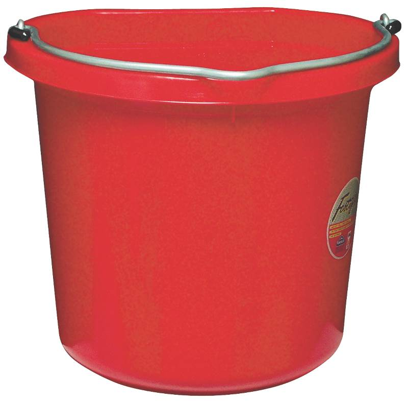 20QT RED FLAT-SIDED BUCKET