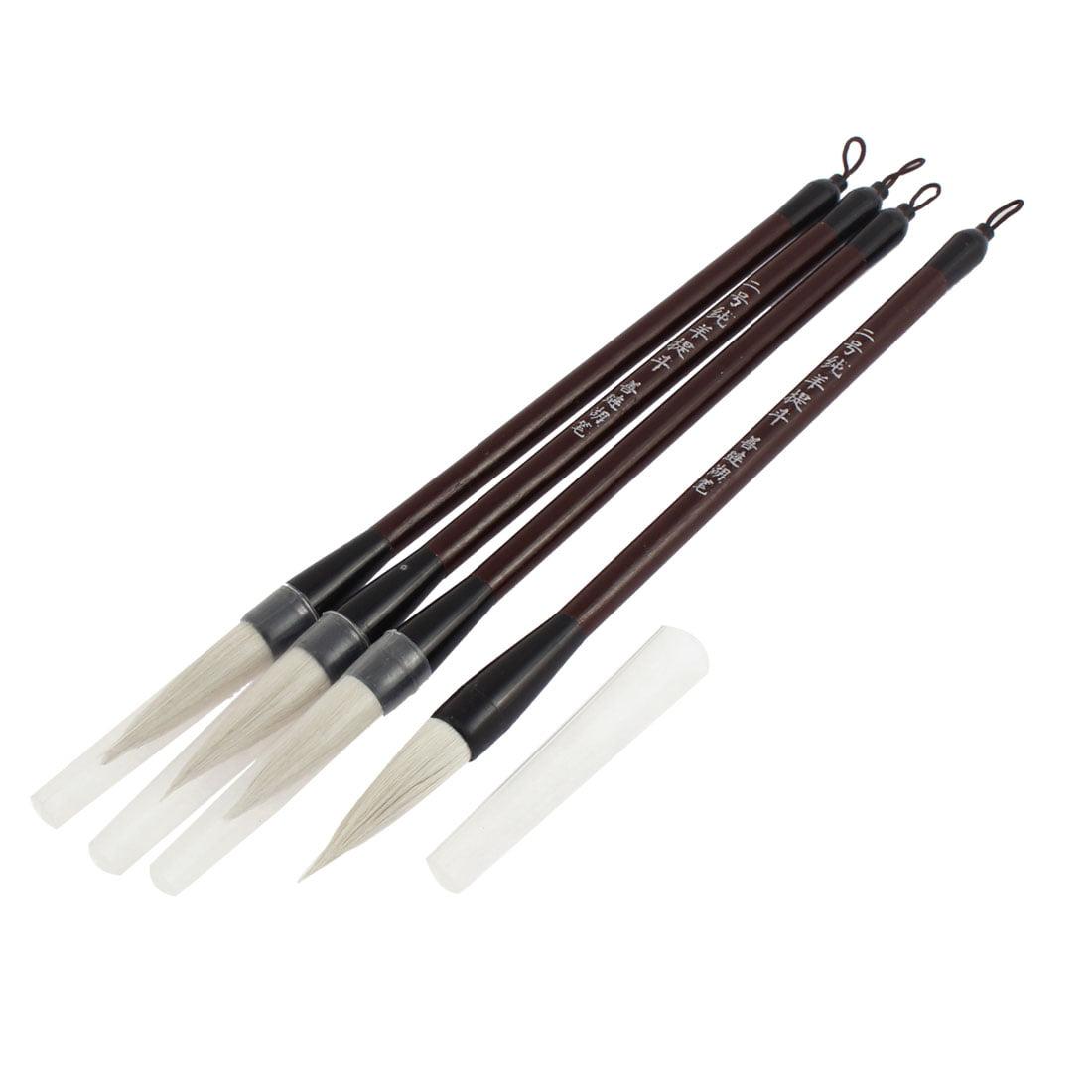 Unique Bargains Chinese Traditional Writing Pen Brush 12  Length 4PCS