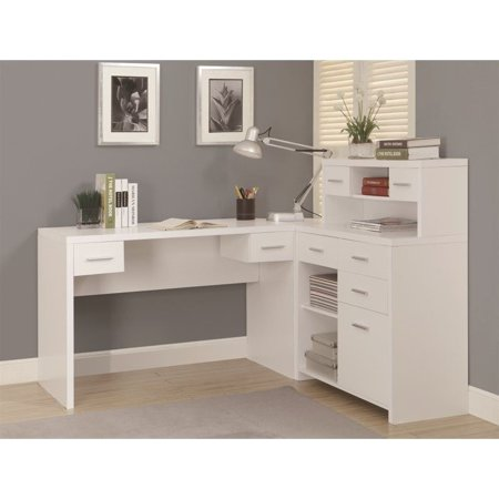 Monarch Hollow Core L Shaped Home Office Desk White