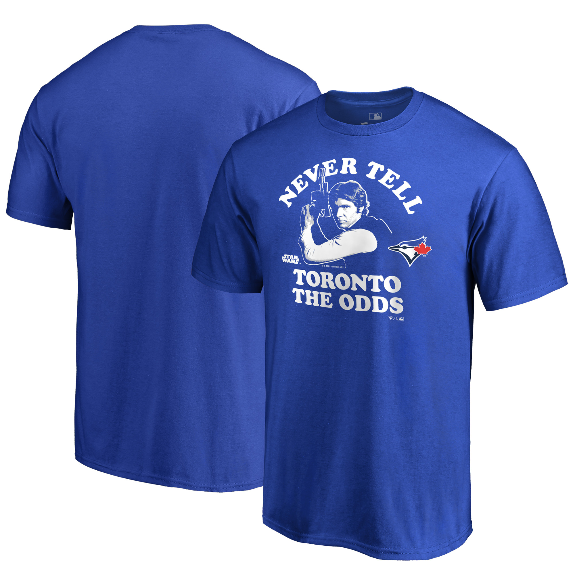 Toronto Blue Jays Fanatics Branded Star Wars Never Tell The Odds T-Shirt - Royal