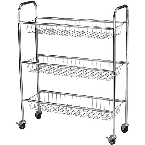 Household Essentials Heavy Duty Chrome Utility Cart