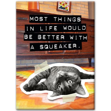 Cat Better With A Squeaker Magnet   Funny Cats By Hot Properties