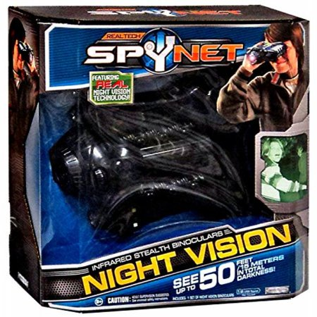 9b3dd8d7a1a31 Real Tech Spy Net Infrared Stealth Night Vision Binoculars - See Up to 50  Feet In Total Darkness - Walmart.com