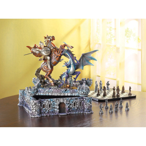 Home Locomotion Dragon ; Knight Chess Set