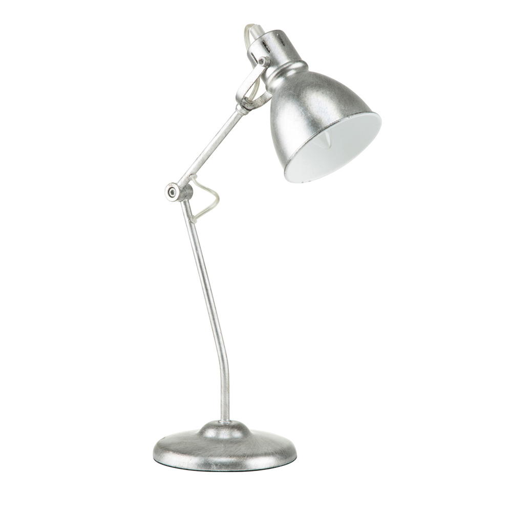 "Euro Style Collection Lyon 18"" Industrial Brushed Nickel Table Lamp"